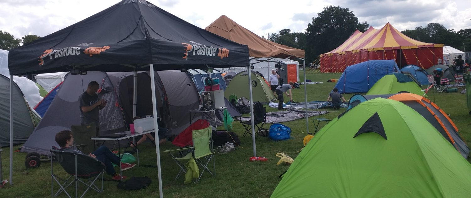 The Dogsbody Technology camp site at EMF 2016