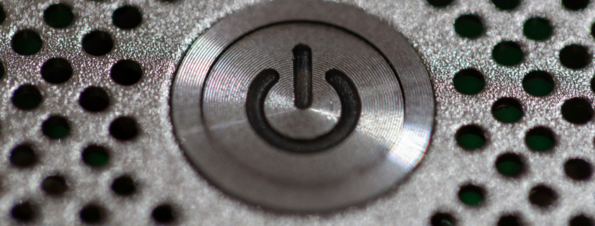 Silver Shutdown Button